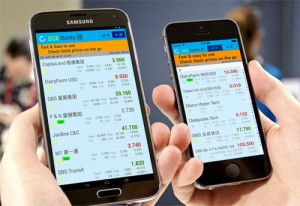 SGX Stocks iPhone, iPad and Android App