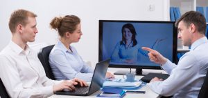 Large-scale video conferencing